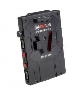 PLAQUE V MOUNT  POWER HUB PAG 4 PRISES SNAP ON - 1 USB