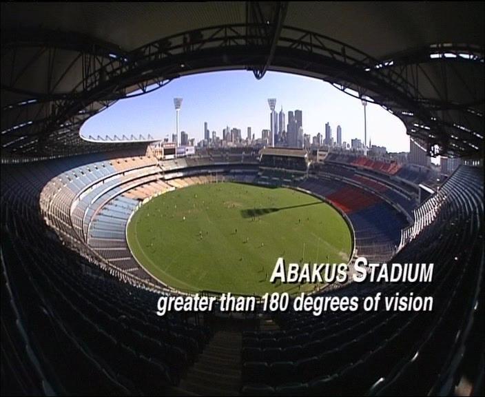 Vue d'un stade avec le stadium
